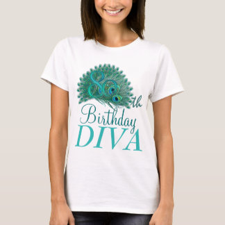 80th Birthday Diva Shirts