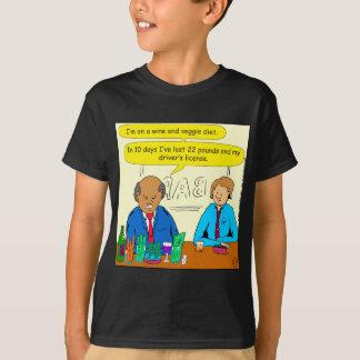 850 wine and veggie diet cartoon T-Shirt