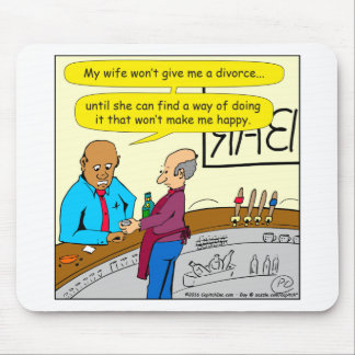 853 divorce makes me happy cartoon mouse pad