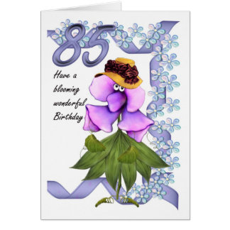 85th Birthday Card with Moonies cute bloomers,