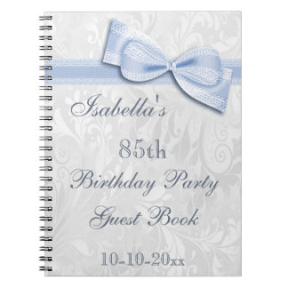 85th Birthday Party Damask and Bow Note Books