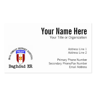 86th CSH Baghadad ER Pack Of Standard Business Cards