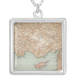 8889 Turkey, Syria, Palestine Silver Plated Necklace