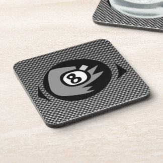 8 ball; Faux Carbon Fiber Drink Coaster