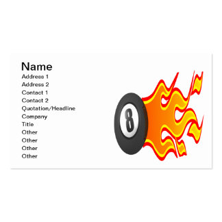 8 Ball Fire Pack Of Standard Business Cards