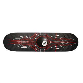 8-Ball Old School Pinstripe Board Skate Board Deck
