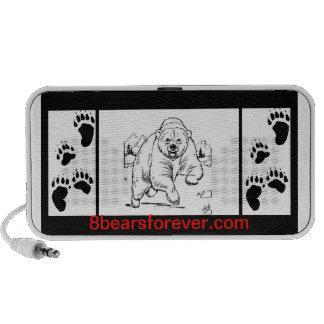 8 BEARS FOREVER iPod SPEAKERS