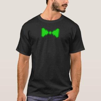 8-bit Green Pixel Bowtie T-Shirt