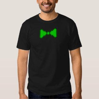 8-bit Green Pixel Bowtie Tees