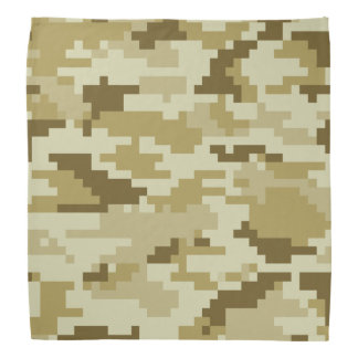 8 Bit Pixel Desert Camouflage / Camo Bandana