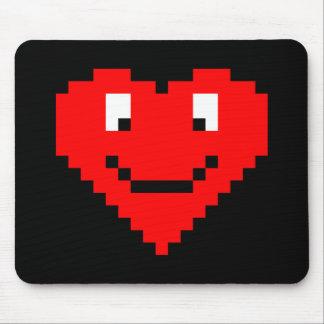 8bit Heart Face Mouse Pads