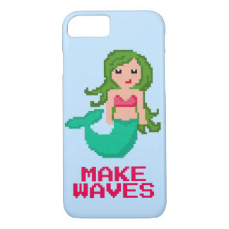 8Bit Pixel Geek Ocean Mermaid Make Waves iPhone 8/7 Case