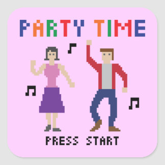 8bits Party Sticker