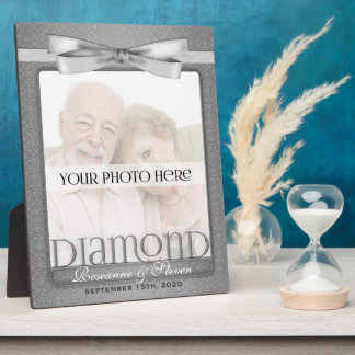 8x10 Diamond 60th Wedding Anniversary Photo Frame