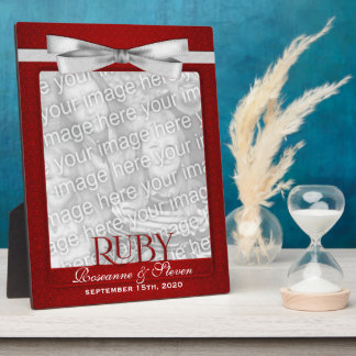 8x10 Ruby 40th Wedding Anniversary Photo Frame Display Plaques