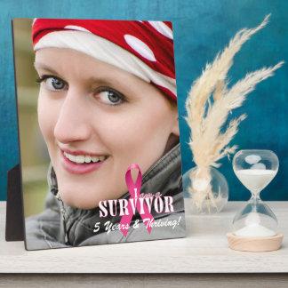 8x10 Vert Photo Survivor Breast Cancer Awareness Photo Plaques