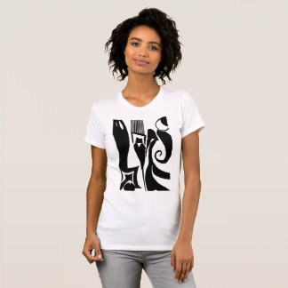 90 Abstract Black & White Crew Neck T-Shirt