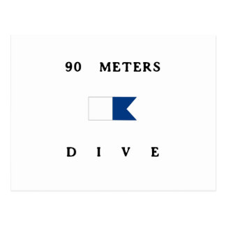 90 Meters Alpha Dive Flag Postcard