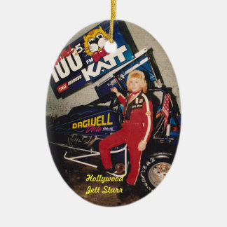 "90'S Sprint Dirt Champion Hollywood ""Jett Starr"" Christmas Ornament"