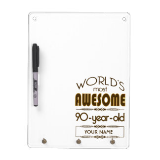 90th Birthday Celebration World Best Fabulous Dry Erase Board