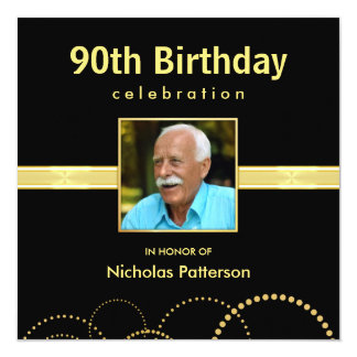 90th Birthday Party Invitations - Photo Optional