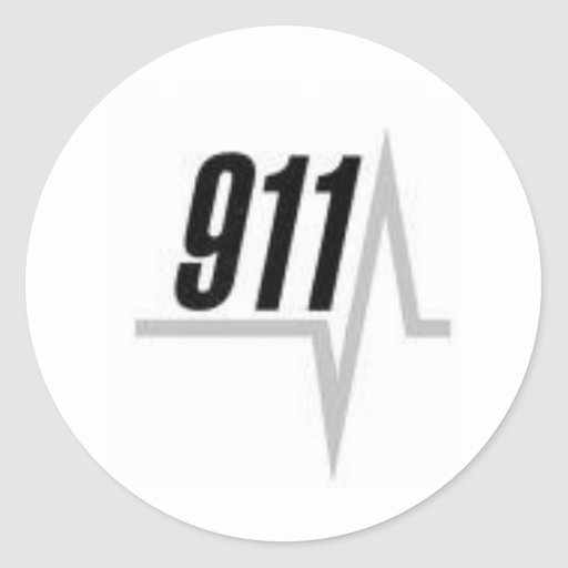 911 EKG strip Round Stickers