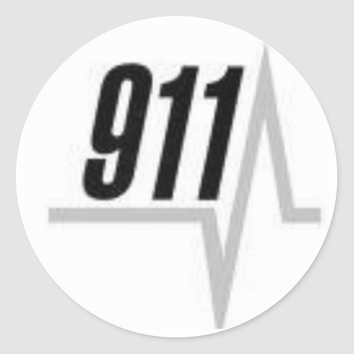 911 EKG strip Round Sticker