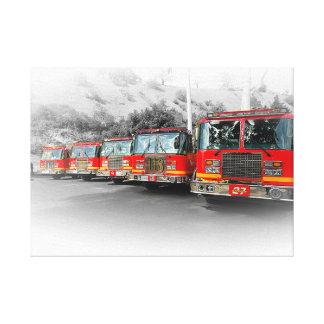 911 LINE UP (ANNIVERSARY) CANVAS PRINT