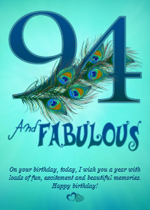 94th Birthday Template Cards