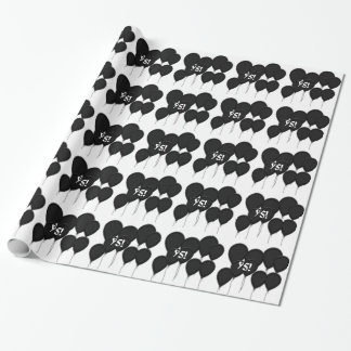 95th birthday, black balloons Gift Paper Gift Wrapping Paper