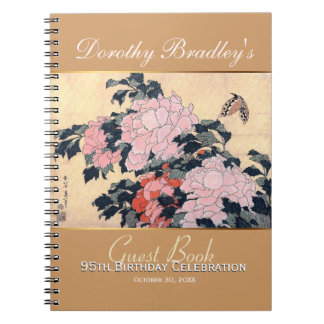 95th Birthday Celebration Butterfly Custom Guest B Spiral Note Book