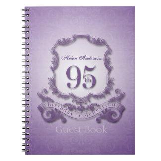 95th Birthday Celebration Custom Framed Guest Book Note Books