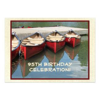 95th Birthday Celebration Invitation Red Canoes