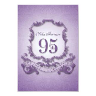95th Birthday Celebration Vintage Frame -2- 9 Cm X 13 Cm Invitation Card