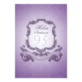 "95th Birthday Celebration Vintage Frame Invitation 3.5"" X 5"" Invitation Card"