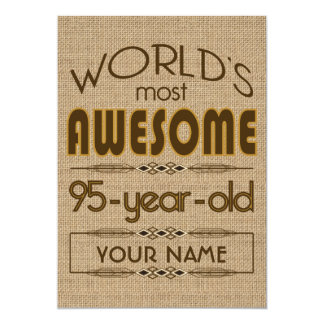 95th Birthday Celebration World Best Fabulous 5x7 Paper Invitation Card