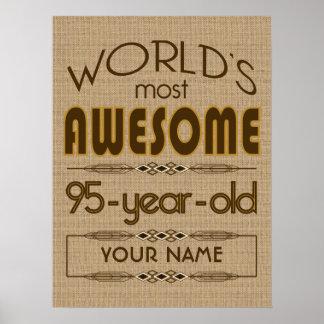 95th Birthday Celebration World Best Fabulous Poster