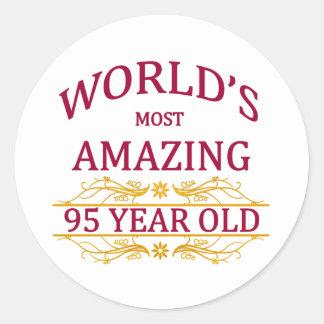 95th. Birthday Classic Round Sticker