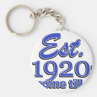 95th birthday designs basic round button key ring