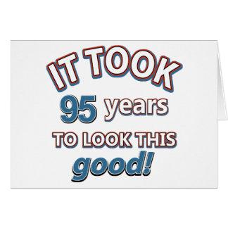 95th birthday designs greeting card