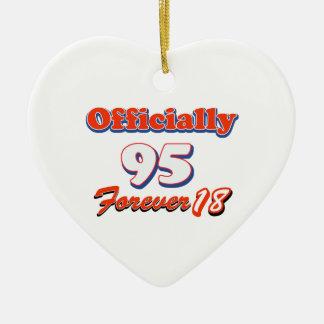 95th birthday designs ceramic heart decoration