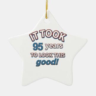 95th birthday designs ceramic star decoration