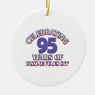95th birthday designs round ceramic decoration