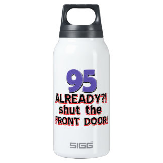 95th birthday designs insulated water bottle