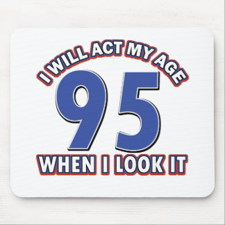 95th birthday designs mouse pad