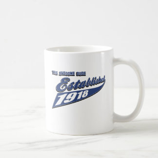 95th birthday designs basic white mug
