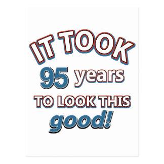 95th birthday designs postcard