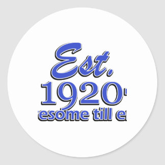 95th birthday designs round sticker