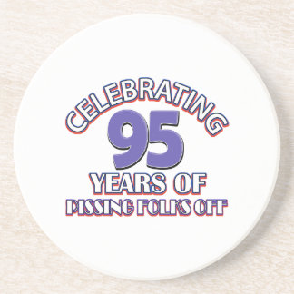 95th birthday designs sandstone coaster
