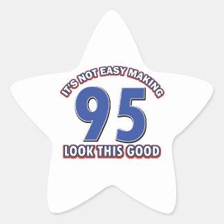 95th birthday designs star sticker